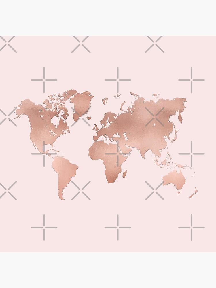 Rose Gold Weltkarte von lolomastudio