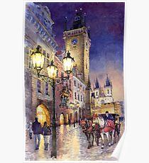 Prague Old Town Square 3 variant Poster
