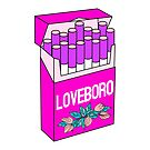 Loveboro cigarette packs pattern / girly stickers / pink grid by InnaPoka