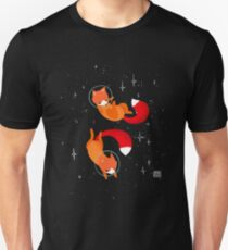 Weltraumfüchse Slim Fit T-Shirt