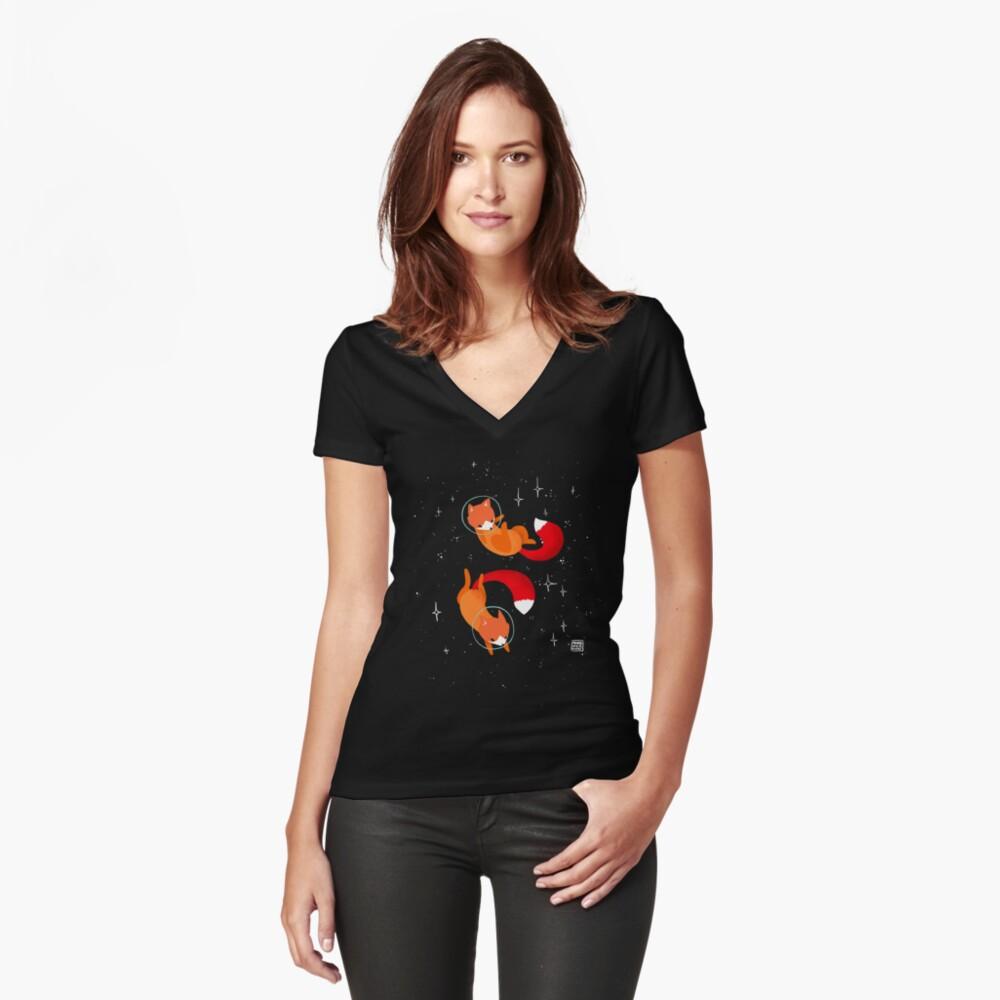Zorros espaciales Camiseta entallada de cuello en V