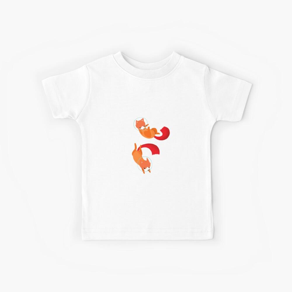Weltraumfüchse Kinder T-Shirt