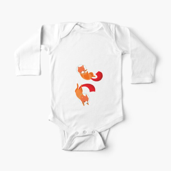 Space Foxes Long Sleeve Baby One-Piece
