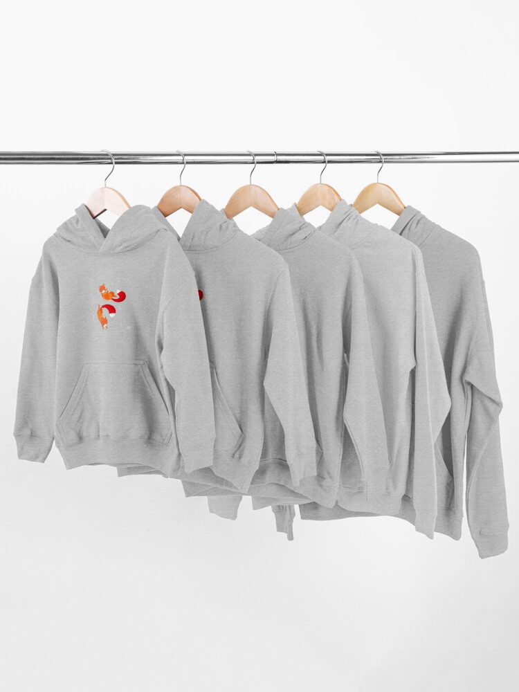 Alternate view of Space Foxes Kids Pullover Hoodie