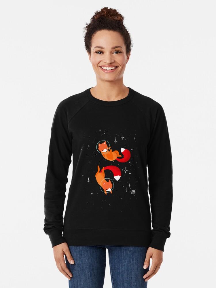 Alternative Ansicht von Weltraumfüchse Leichter Pullover