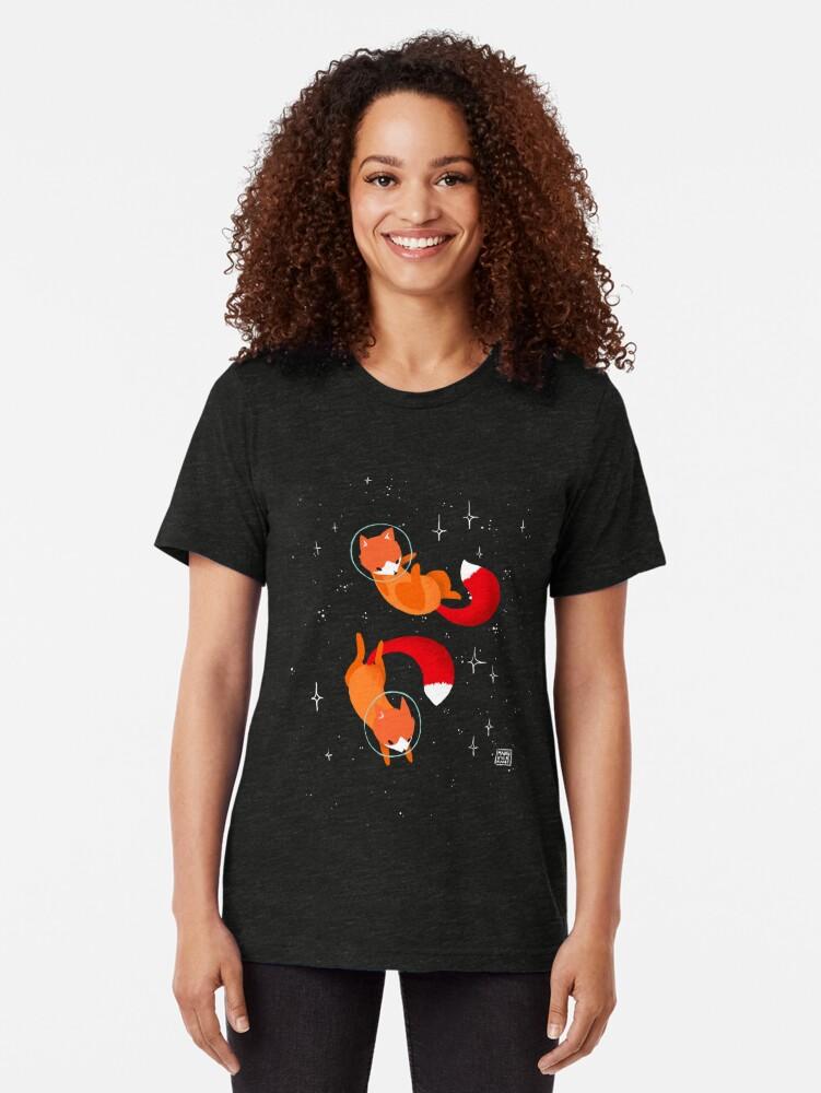 Alternative Ansicht von Weltraumfüchse Vintage T-Shirt