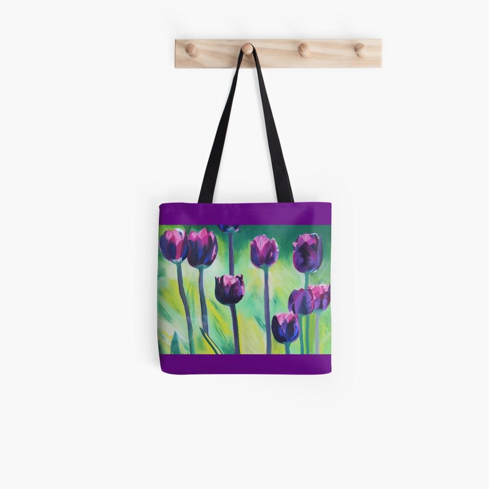 Tulips Aglow Tote Bag