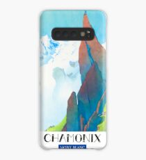 Vintage Travel Poster France - Chamonix - Mont Blanc Case/Skin for Samsung Galaxy