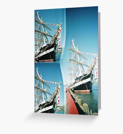 Pirate Boat Greeting Card