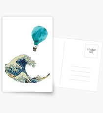 The Wave and the Hot Air Balloon  Postcards