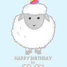 Happy Birthday to EWE - Sheep Birthday - Funny Birthday Cards - Sheep Puns - Ewe Pun - Animal - Birthday Puns  by JustTheBeginning-x (Tori)
