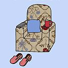 Happy Retirement to Brother, Cartoon Armchair. by KateTaylor