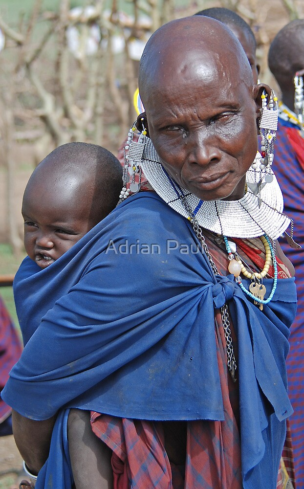 Maasai Mother and Child, Tanzania by Adrian Paul