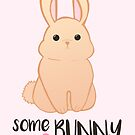 Some BUNNY loves you - Bunny Valentines - Valentine Puns - Rabbit Pun - Funny - Hilarious - Cute by JustTheBeginning-x (Tori)