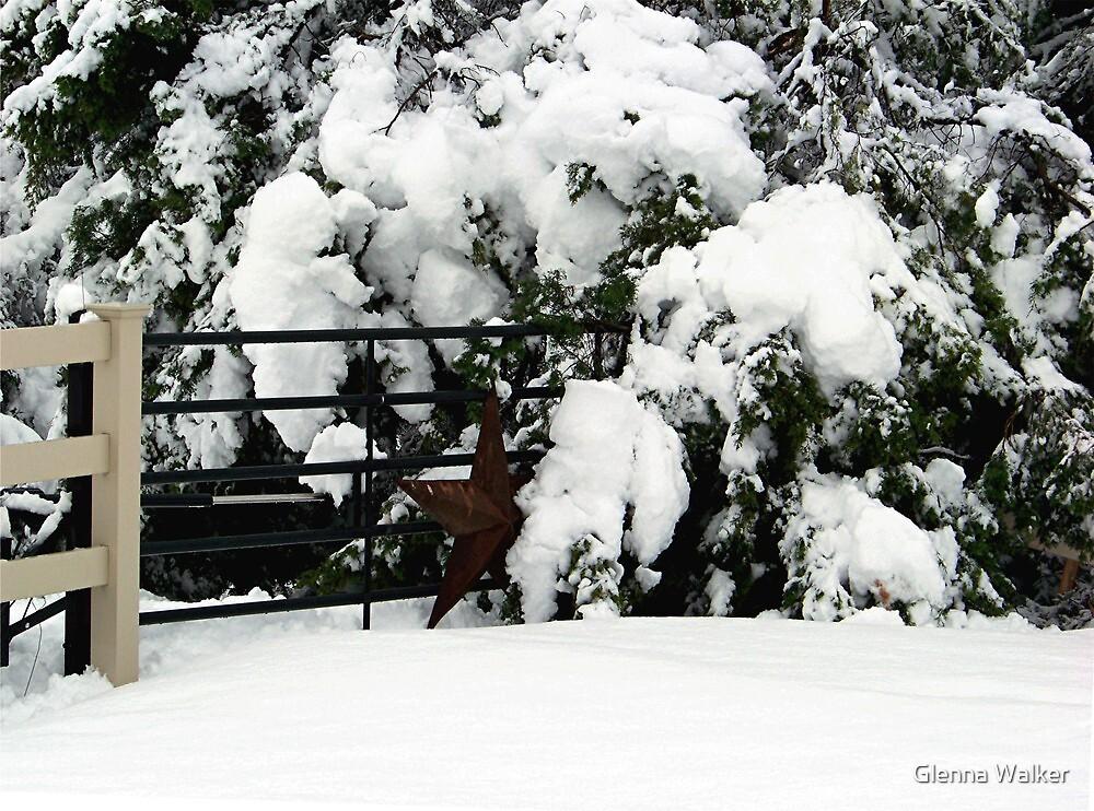 Rustic Snow Scene by Glenna Walker
