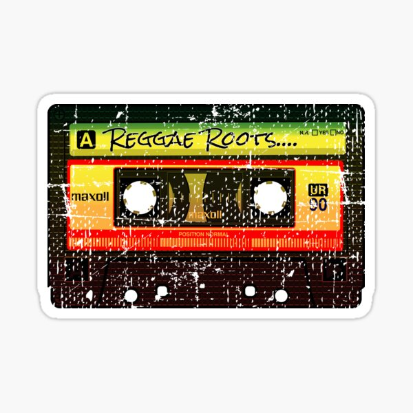 Reggae Roots Jamaica Rasta Reggae cassette tape Good vibes Sticker