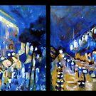 Rainy Paris Dyptych by DreddArt