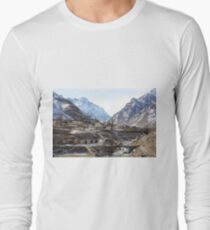 #Mountains, #road, #houses, #river, #mountain #village #Tawlula  #Karachay #Balkar #Къарачай #Малкъар #Qaraçay #Malqar #Tawlu #Karachays #Balkars  Long Sleeve T-Shirt