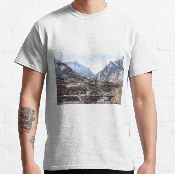 Tawlula T-Shirts, #Mountains, #road, #houses, #river, mountain village Tawlula Karachay Balkar Classic T-Shirt