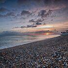 Hythe Beach at Sunset by Dave Godden