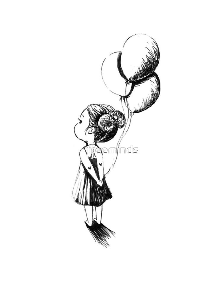 Little Balloon Girl by freeminds