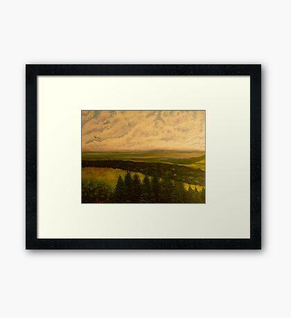 Green valley 2 Framed Print