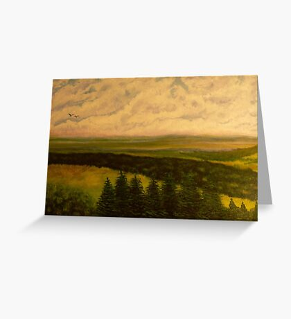 Green valley 2 Greeting Card