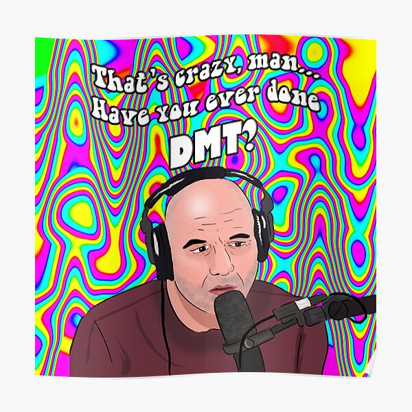Joe Rogan DMT Meme Poster