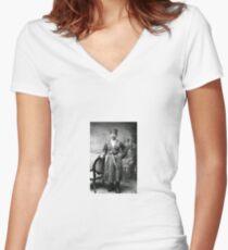 #Tawlula  #Karachay #Balkar #Къарачай #Малкъар #Qaraçay #Malqar #Tawlu #Karachays #Balkars  Women's Fitted V-Neck T-Shirt