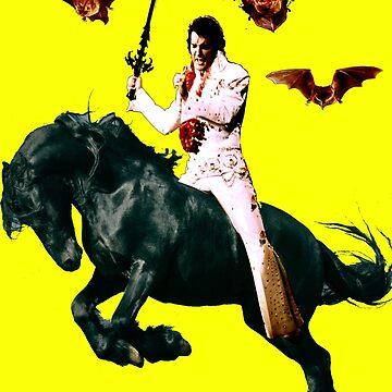 Heavy Metal Elvis Summons the Bats by zandozan