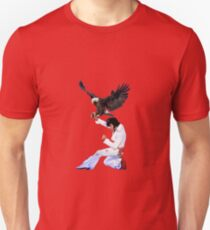 Elvis Hunts with an Eagle Unisex T-Shirt