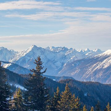 Austrian Mountains with snow by captureasecond