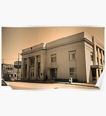 Vintage Bank Building, Niles, Ohio Poster