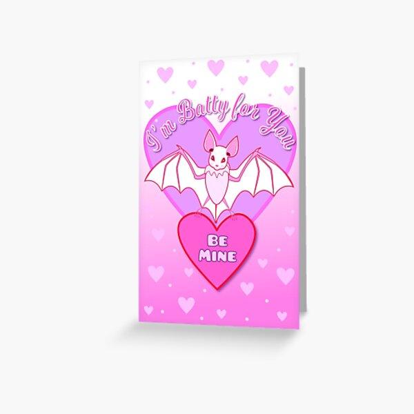 Bat Valentine Card Greeting Card