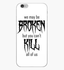 Motionless In White lyrics - Black  iPhone Case