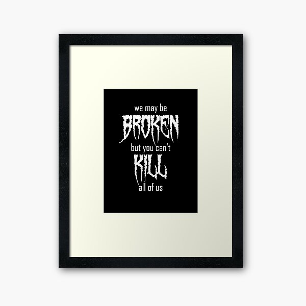 MOTIONLESS IN WHITE A4 260GSM FRAMED POSTER PRINT