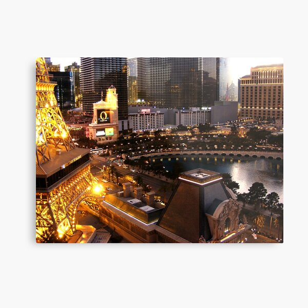 at dusk-Vegas comes alive Metal Print