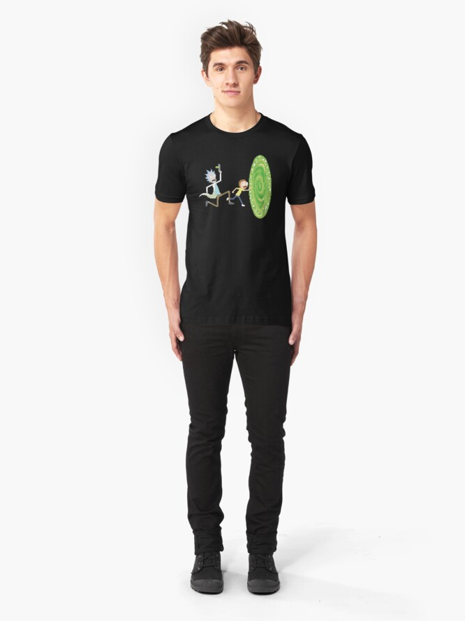 Alternate view of Rick and Morty Pixels - Pixel Rick! Slim Fit T-Shirt