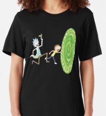 Rick and Morty Pixels - Pixel Rick! Slim Fit T-Shirt