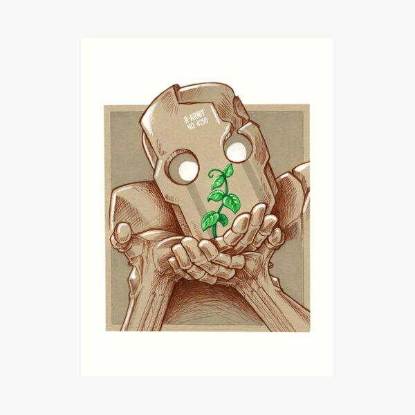 Robot et plante Impression artistique