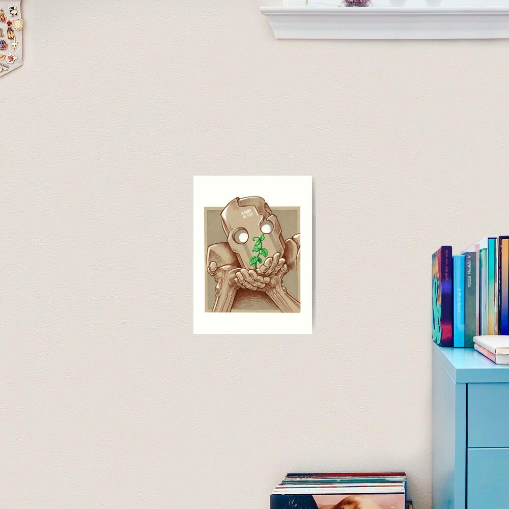 Impression artistique «Robot et plante»