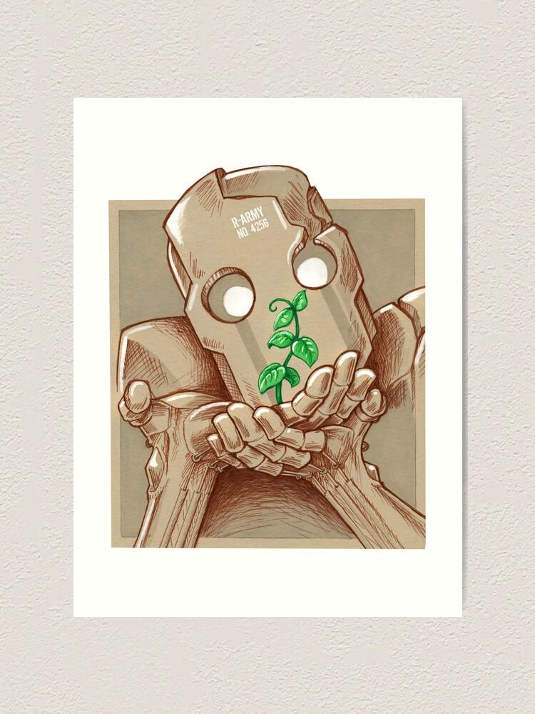 Impression artistique ''Robot et plante': autre vue
