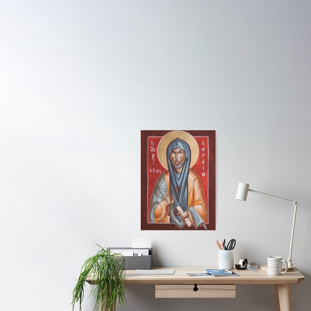 St Efraim the Syrian Poster