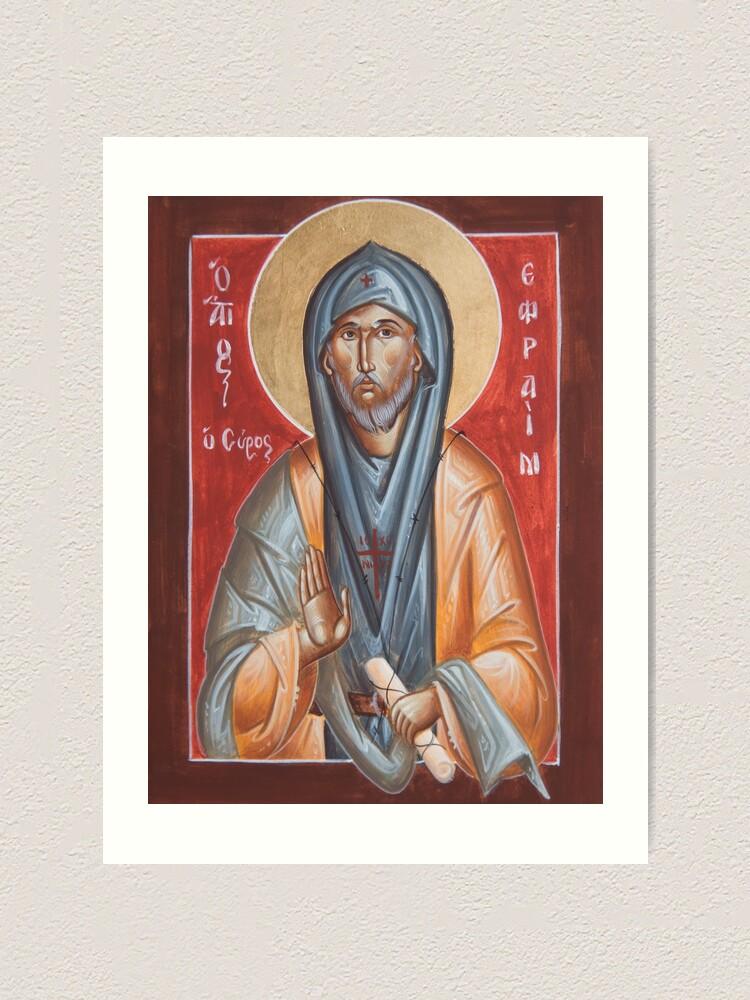 Alternate view of St Efraim the Syrian Art Print