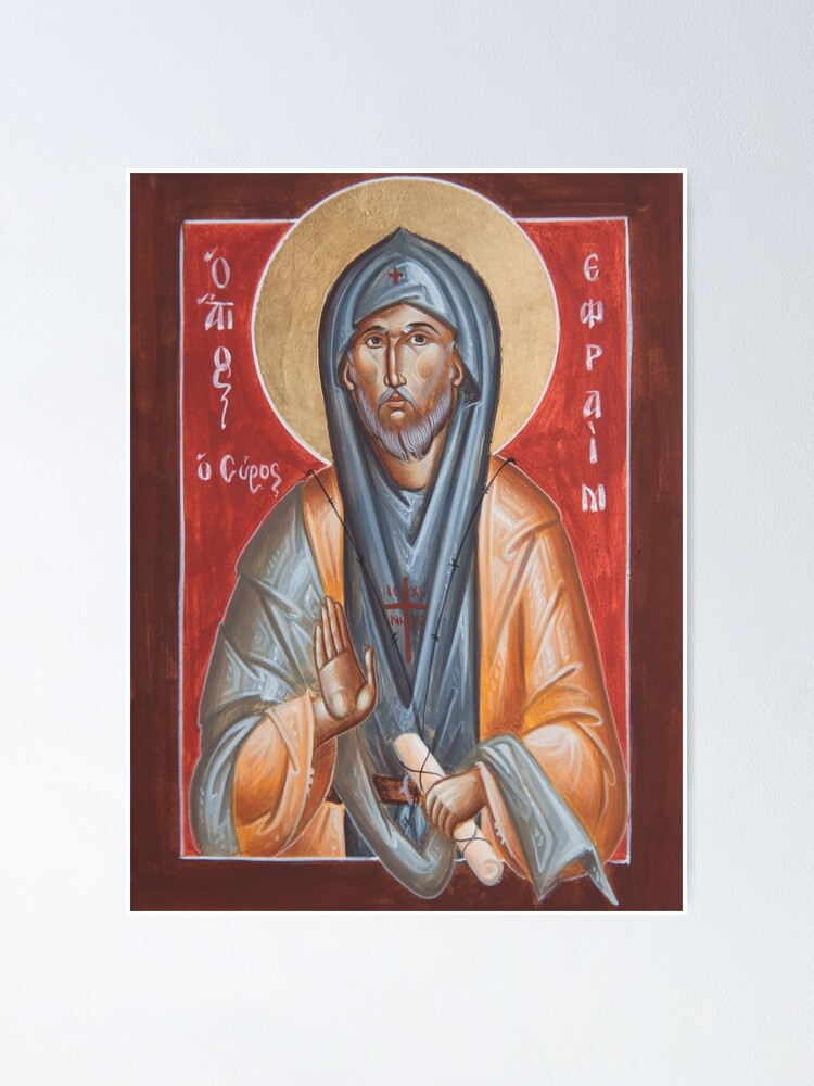 Alternate view of St Efraim the Syrian Poster