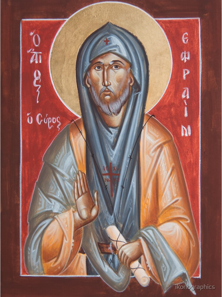 St Efraim the Syrian by ikonographics