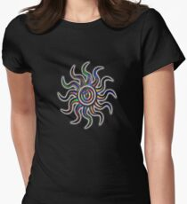 Psychedelic Sun Women's Fitted T-Shirt