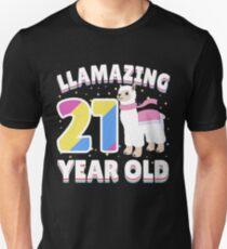 Llama 21st Birthday Slim Fit T-Shirt