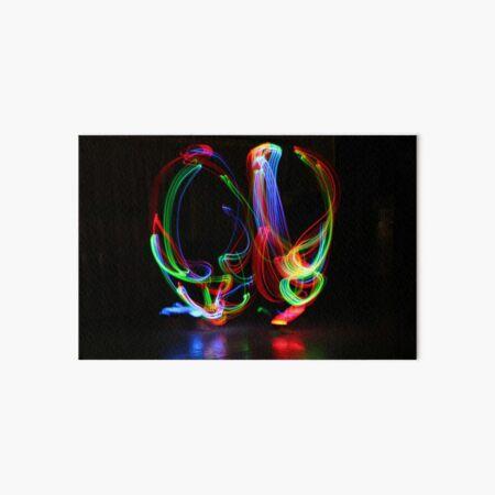 Abstract Rainbow Flowers Art Board Print