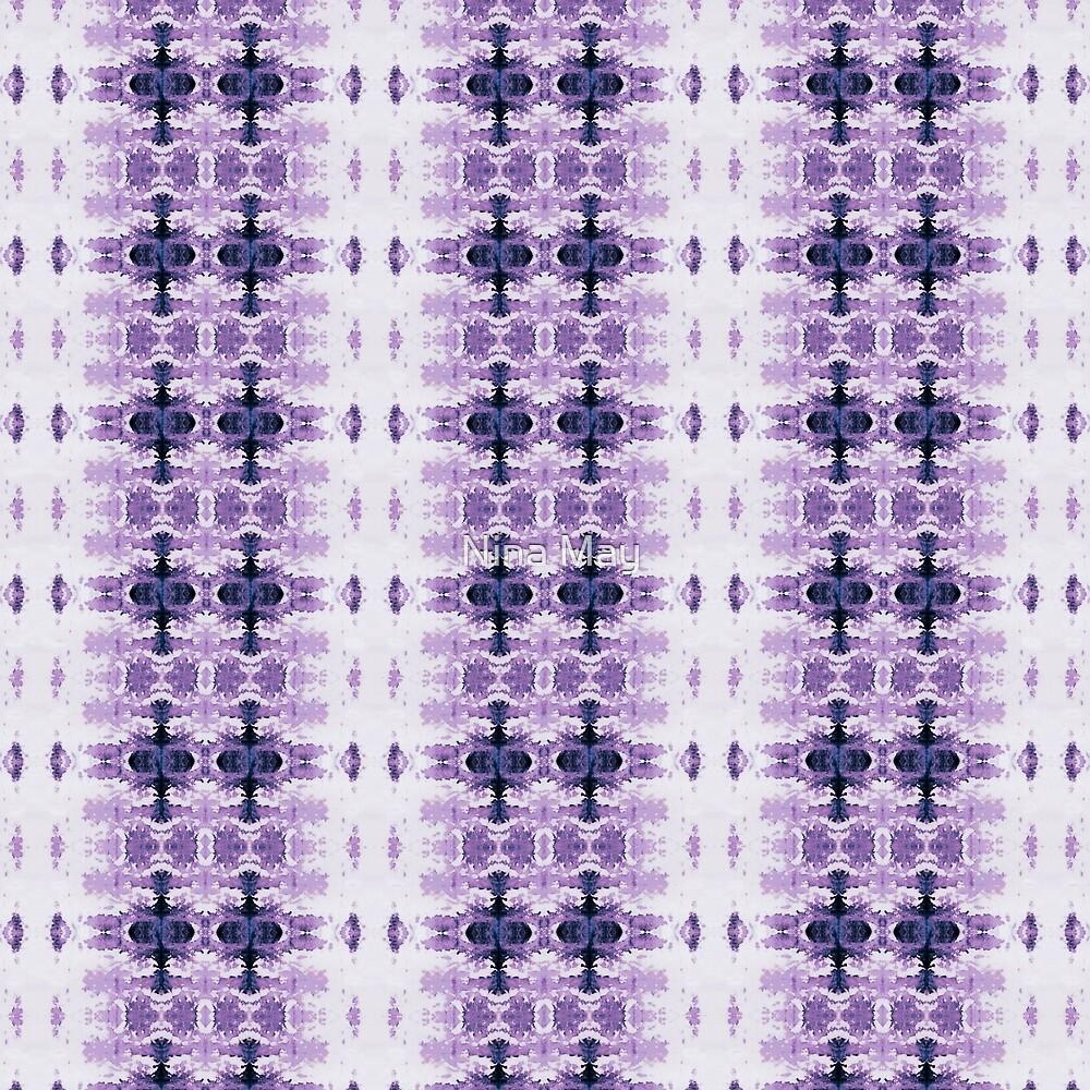 Purple Kumo Ikat Stripe by Nina May